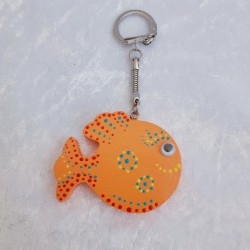 Porte Clé Poisson Orange